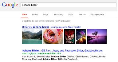 Beispiel - Universal Search