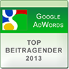 Thomas Grübel Top Beitragender Google AdWords Community 2013